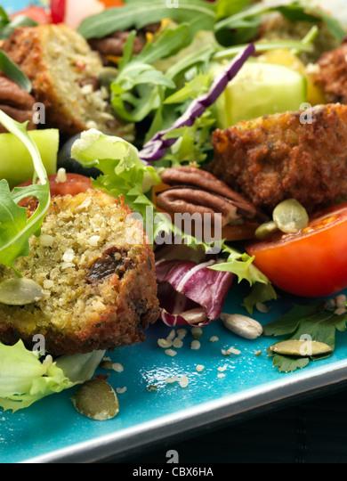 falafel salad - Stock Image
