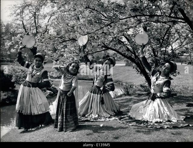 Feb. 29, 2012 - When the Ballet company decided to have a rehearsal in the spring's sunshine amid the blossom - Stock Image