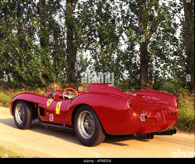 1957 Scuderia Ferrari Testa Rossa rear 3 4 - Stock Image