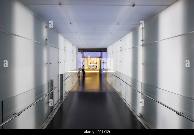 Interior of BMW Museum in Munich Germany - Stock Image
