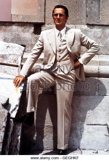 Alain Delon Frank Jackson (Alain Delon) wird vom russischen Geheimdienst beauftragt, Trotzki zu ermorden. Um Zugang - Stock Image