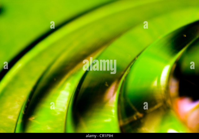 Closeup of colorful glass. Abstract image taken with a high magnification macro lens. - Stock Image