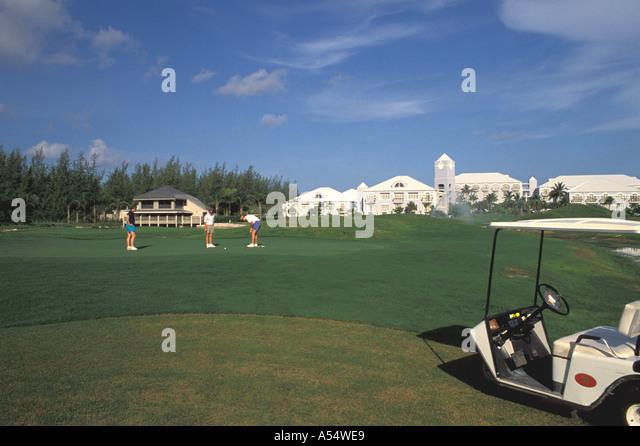 Grand Cayman Island West Indies Caribbean Golf Brittania Golf Course Hyatt Resort Hotel - Stock Image