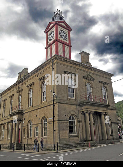 Marsden Mechanics Institute building, Kirklees, West Yorkshire,England,Uk - Stock Image