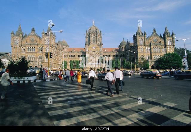 Victoria Railway Station (Victoria Terminus), Mumbai (Bombay), Maharashtra State, India, Asia - Stock Image