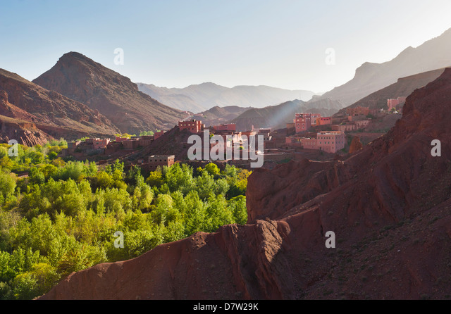 Dades Gorge, Morocco, North Africa - Stock Image