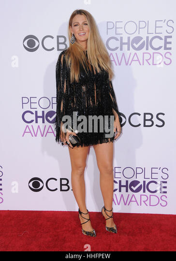 Los Angeles, CA, USA. 18th Jan, 2017.  Blake Lively. 2017 People's Choice Awards 2017 held at the Microsoft - Stock Image