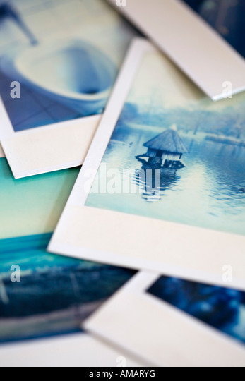 Polaroid photographs - Stock Image