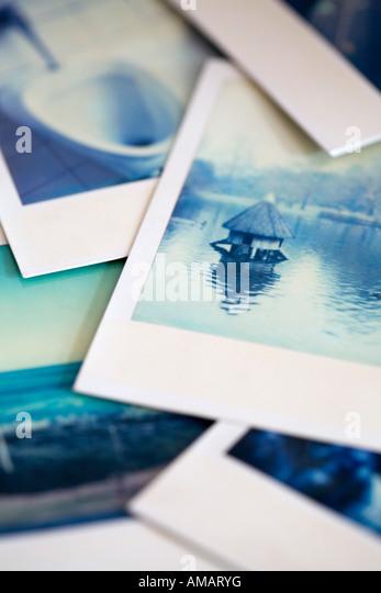 Polaroid photographs - Stock Image