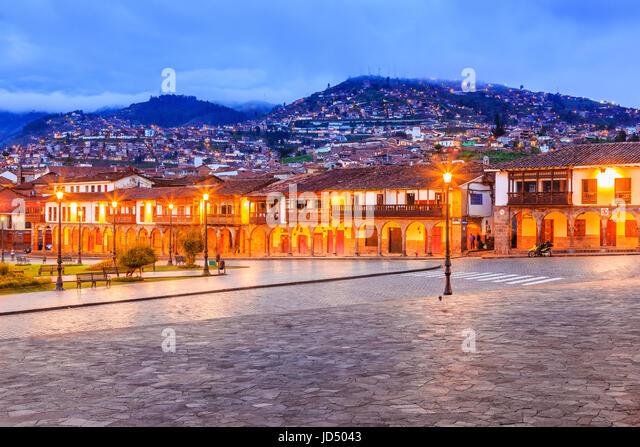 Cusco, Peru. Plaza de Armas the main square in Cusco. - Stock Image