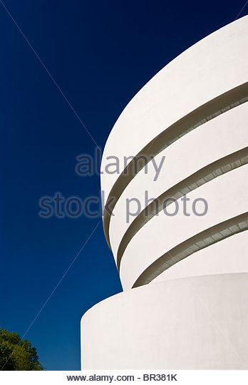 The Guggenheim Museum, New York City. Frank Lloyd Wright, Architect. - Stock-Bilder