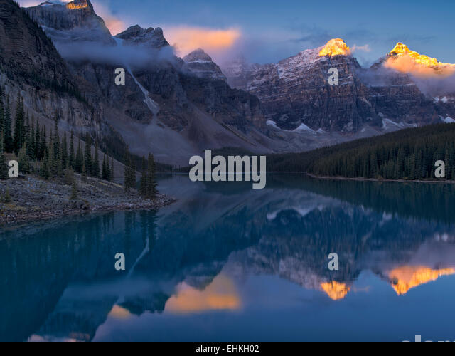 Moraine Lake. Banff National Park. Alberta Canada. - Stock Image