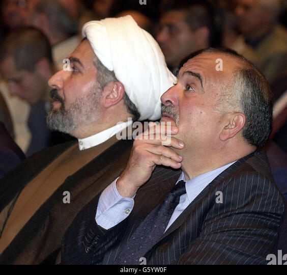 Prince Hassan of Jordon  - Iraqi National Congress - Stock Image