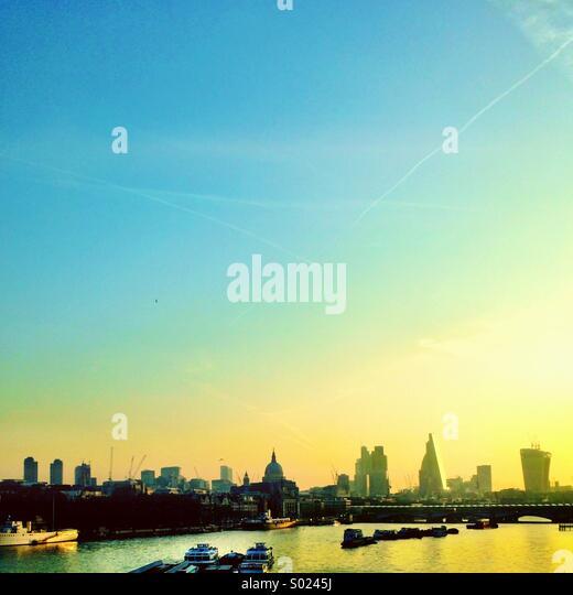 Waterloo sunrise London - Stock Image