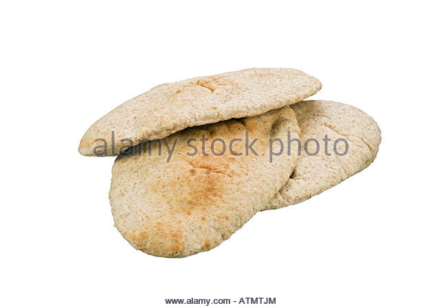 Wholemeal pitta bread. - Stock Image
