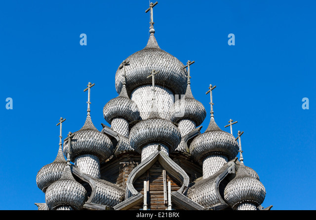 Russia, Kizhi Island, Church of Transfiguration - Stock Image