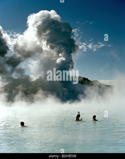 Blue lagoon, hot springs near Grindavik, Reykjavik, Iceland - Stock-Bilder