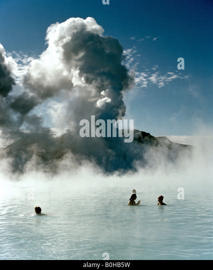 Blue lagoon, hot springs near Grindavik, Reykjavik, Iceland - Stock-Bilder