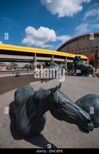 Bronze Sculpture Horse Cowboy Stock Photos Amp Bronze