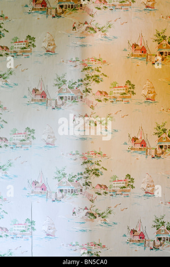 wallpaper 1930s - Stock Image