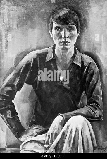 Painting of Renee Sintenis, 1925 - Stock-Bilder
