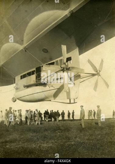 Italian military airship type P - Stock Image