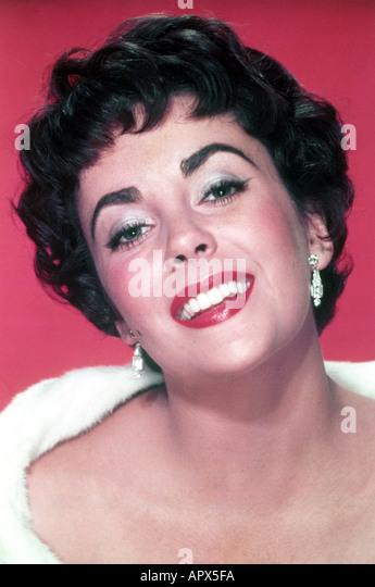 ELIZABETH TAYLOR about 1958 - Stock-Bilder