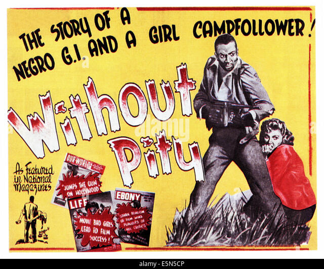 WITHOUT PITY, (aka SENZA PIETA), from left: John Kitzmiller, Carla Del Poggio, 1948. - Stock Image