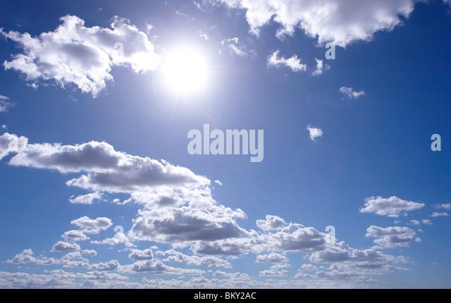 Cumulus clouds - Stock Image