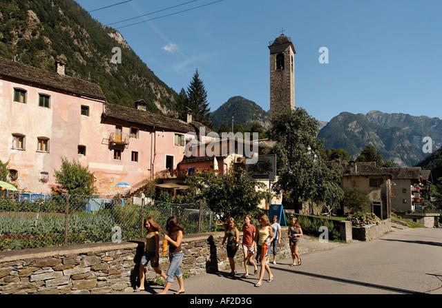 Switzerland Ticino Val Maggia - Stock Image