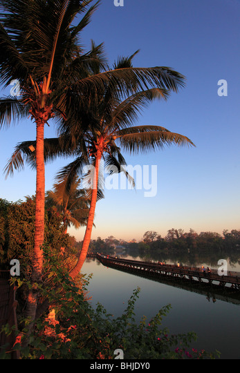 Myanmar, Burma, Yangon, Rangoon, Kandawgyi Lake - Stock-Bilder