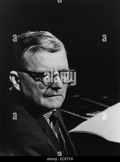 Photograph of Dmitri Dmitrievich Shostakovich - Stock-Bilder
