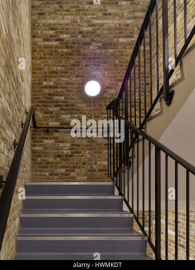 Stair. Florence Road, London, United Kingdom. Architect: Bell Phillips Architects, 2016. - Stock-Bilder