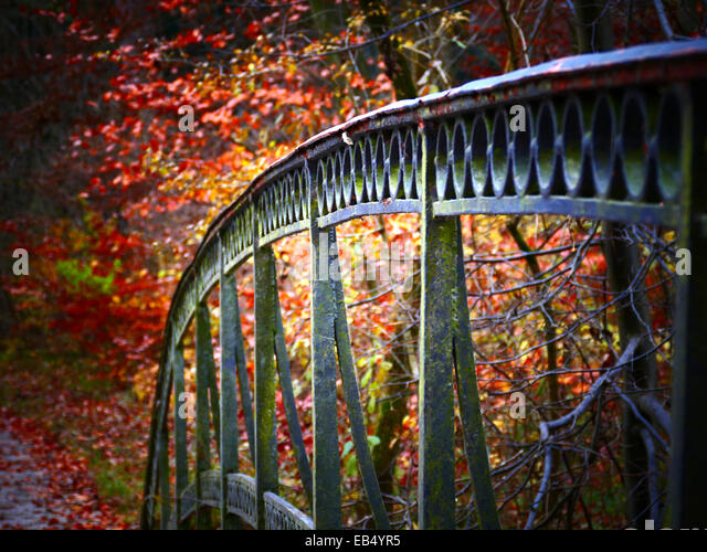 Abstract nostalgic metal bridge - Stock Image