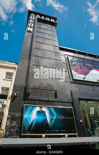 Odeon cinema Leicester Square central London England Britain UK Europe - Stock Image