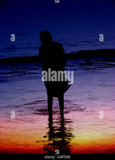 Dusk River - Stock Image