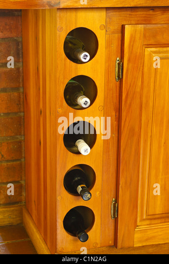 Wooden cupboards stock photos wooden cupboards stock for Wooden fitted kitchen