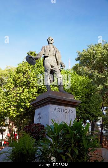 Jose Gervasio Artigas Monument, Plaza Uruguay, Asuncion, Paraguay - Stock Image