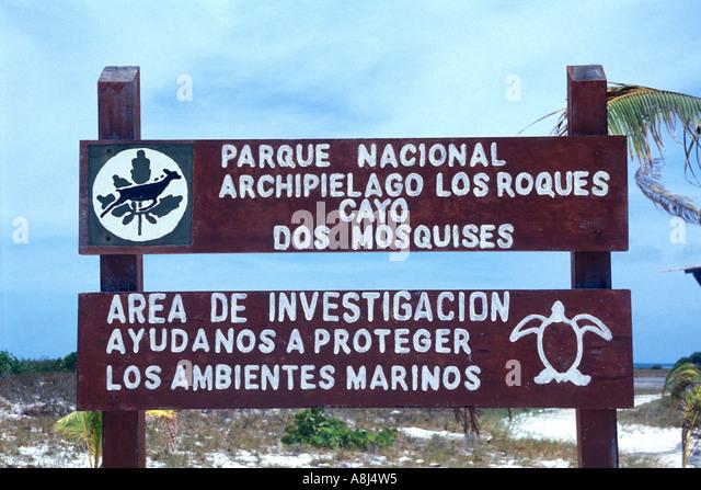 Los Roques Archipelago Venezuela, cayo Dos Mosquises - Stock Image