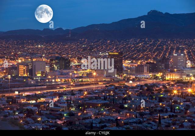 Downtown El Paso Texas Usa Stock Photos Amp Downtown El Paso