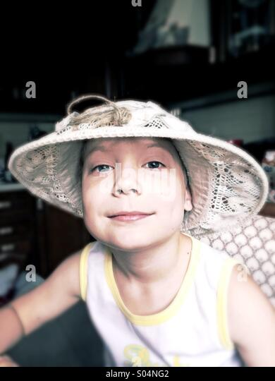 Tom Sawyer boy - Stock Image