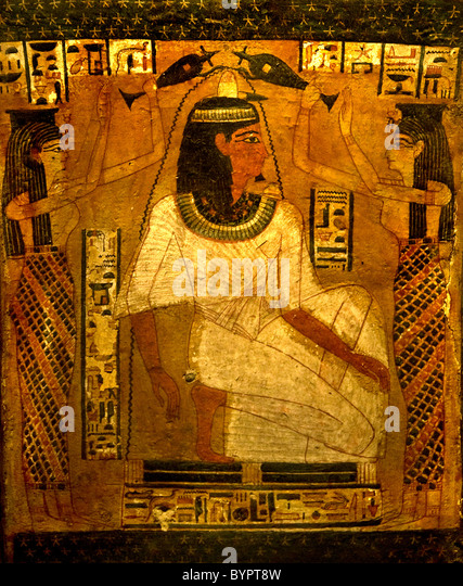 Museum Egypt Antiquity Sarcophagus Coffin Pharaoh Djedmontefankh  925 AD - Stock-Bilder