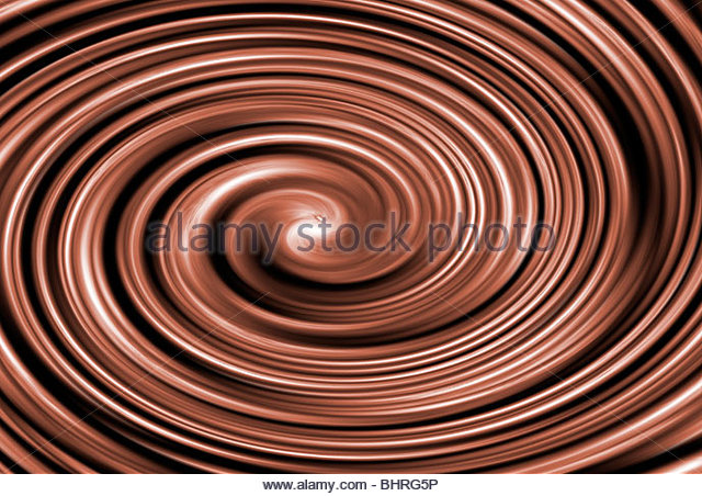 Chocolate swirl - Stock Image