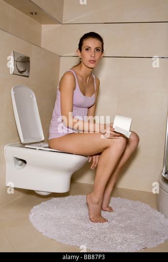 Woman Toilet Paper Stock Photos Amp Woman Toilet Paper Stock