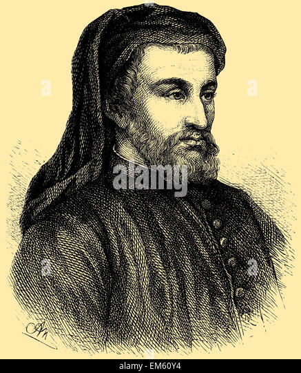 Geoffrey Chaucer (1343 – 1400), English author, poet, philosopher, bureaucrat, courtier and diplomat - Stock Image