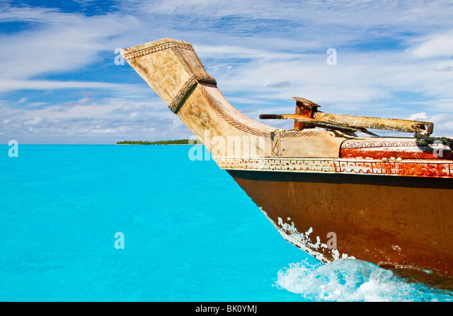 Vaka canoe, Cook Islands - Stock Image