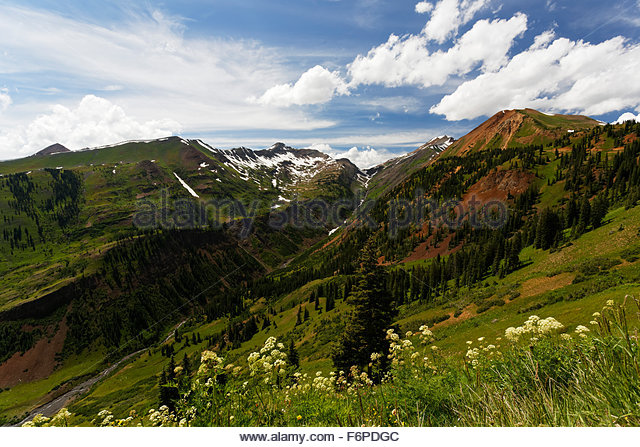 Apine mountains, Crested Butte, Colorado - Stock Image