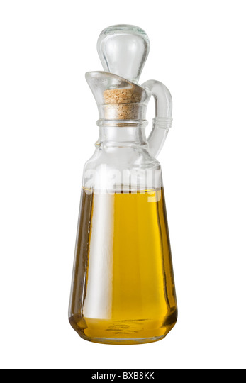 Olive Oil Cruet isolated on a white background. - Stock-Bilder