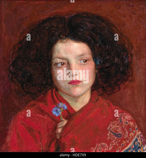 The Irish Girl by Ford Madox Brown - Stock Image