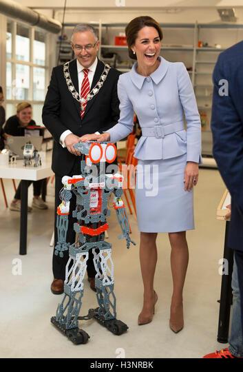 Rotterdam, Netherlands. 11th Oct, 2016.  HRH Princess Kate visit at De Bouwkeet Work Space HRH Princess Kate visits - Stock Image